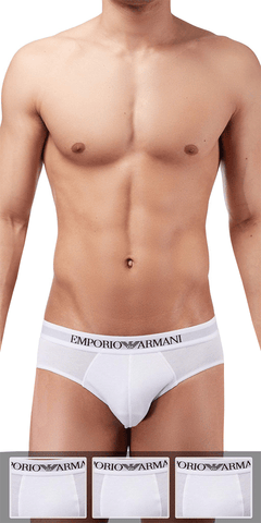 Emporio Armani 3-Pack Brief White - 110824cc722