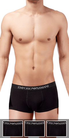 Emporio Armani 3-Pack Trunk Black - 111610cc722