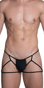 HIDDEN 971 Jockstrap-Thong In Black