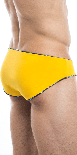 HUNK2 SB20191D Tucano² Reversible Swim Brief in Toucan/Yellow