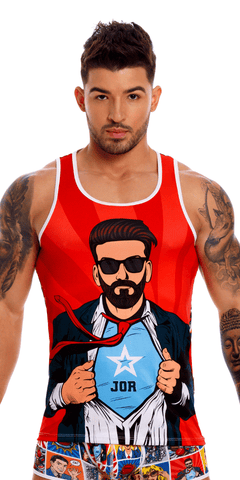 Jor 1134 Comic Tank Top Printed