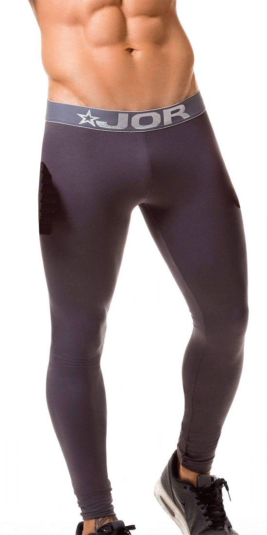 Jor 0375 Fitness Athletic Pants Gray