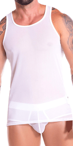 Jor 0886 Mesh Tank Top White