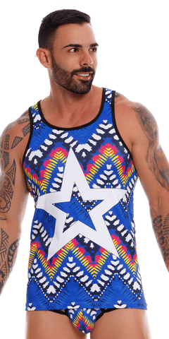 Jor 1002 Tribal Tank Top Printed