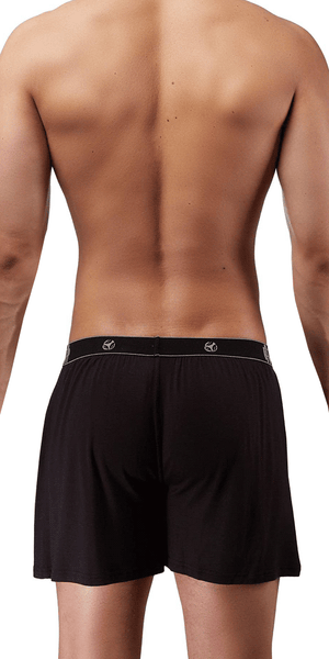 Male Power Bamboo Boxer Short In Black