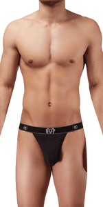 Male Power Bamboo Micro Thong In Black