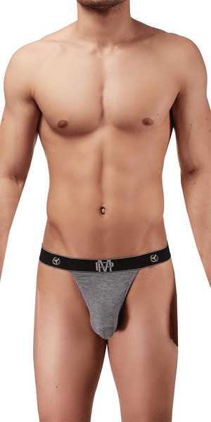 Male Power Bamboo Micro Thong In Gray