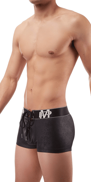 Male Power Black Ice Lace Up Short In Black