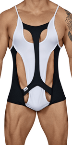 Candyman 99432 Inside Out Bodysuit  White-black