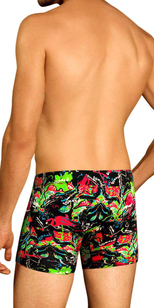 DOREANSE 1821 Dorian Boxer Brief in Pink Flamingo Print