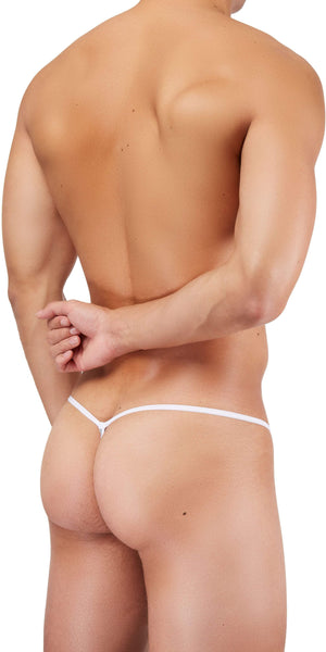 DOREANSE 1326 Flashy G-String In Silver Snake