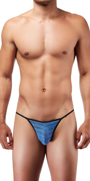 DOREANSE 1306 Mesh G-String Thong In Blue