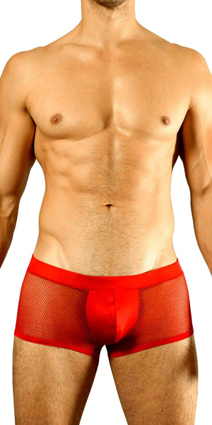 DOREANSE 1588 Mesh Trunk in Cherry Red