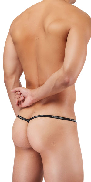DOREANSE 1330 Ribbed Modal T-thong In Navy