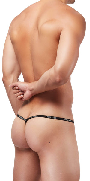 DOREANSE Ribbed Modal Thong In Black
