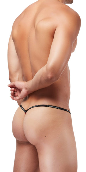 DOREANSE 1330 Ribbed Modal Thong In Bordeaux