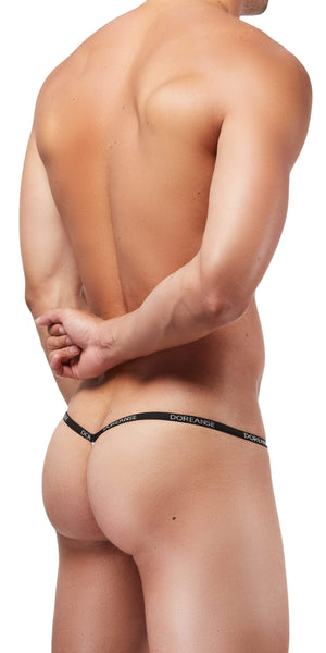 DOREANSE 1330 Ribbed Modal Thong In White