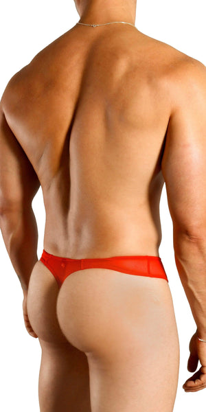 DOREANSE Sexy Sheer Thong in Cherry Red
