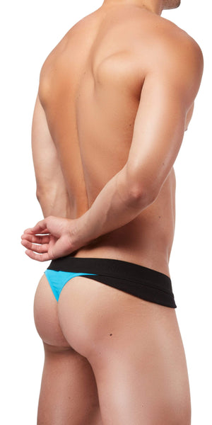 DOREANSE 1258 Warrior Thong In Black-Turquoise