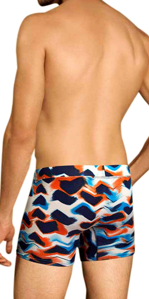 DOREANSE 1900 Waves Boxer Brief in Waves Print