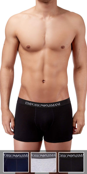 Emporio Armani 3-Pack Boxer Brief Gray-black-navy - 111611cc722