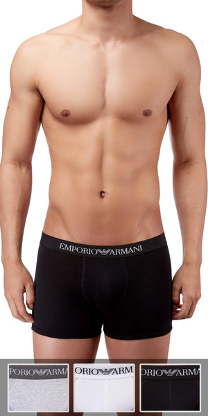Emporio Armani Boxer Brief 3-Pack In Gray-White-Black
