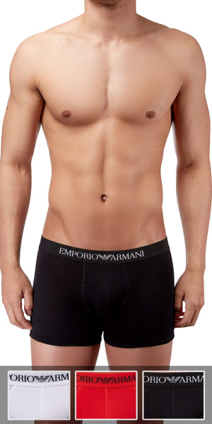 Emporio Armani Boxer Brief 3-Pack In Red-White-Black