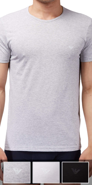 Emporio Armani 3-Pack T-shirt Gray-white-black - 110821cc722
