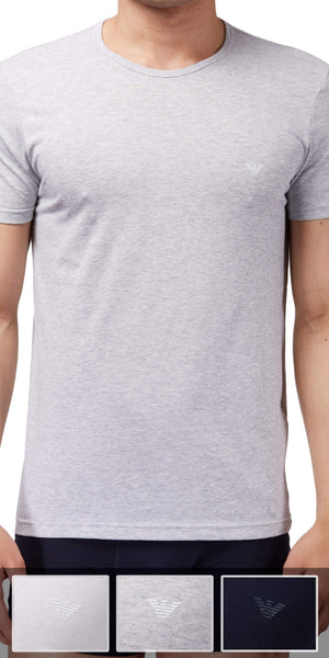 Emporio Armani 3-Pack T-shirt Gray-white-navy - 110821cc722