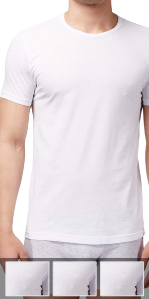 Emporio Armani Crew Neck Undershirt 3-Pack In White