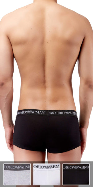 Emporio Armani 3-Pack Trunk Gray-white-black - 111610cc722