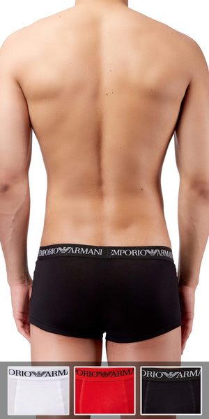 Emporio Armani Trunk 3-Pack In Red-White-Black