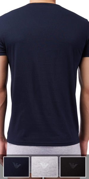 Emporio Armani 3-Pack T-shirt Gray-black-navy - 110856cc722