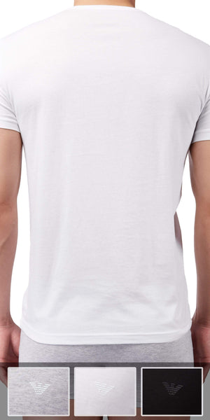 Emporio Armani 3-Pack T-shirtGray-white-black - 110856cc722