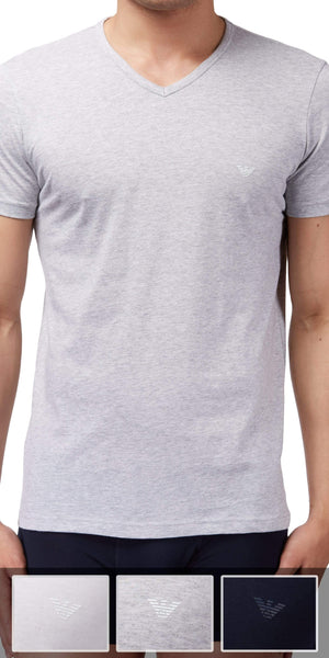 Emporio Armani 3-Pack T-shirt Gray-white-navy - 110856cc722