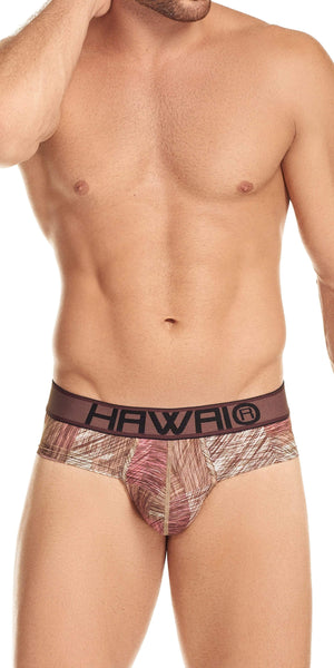 HAWAI Brief In Red Patchwork Print