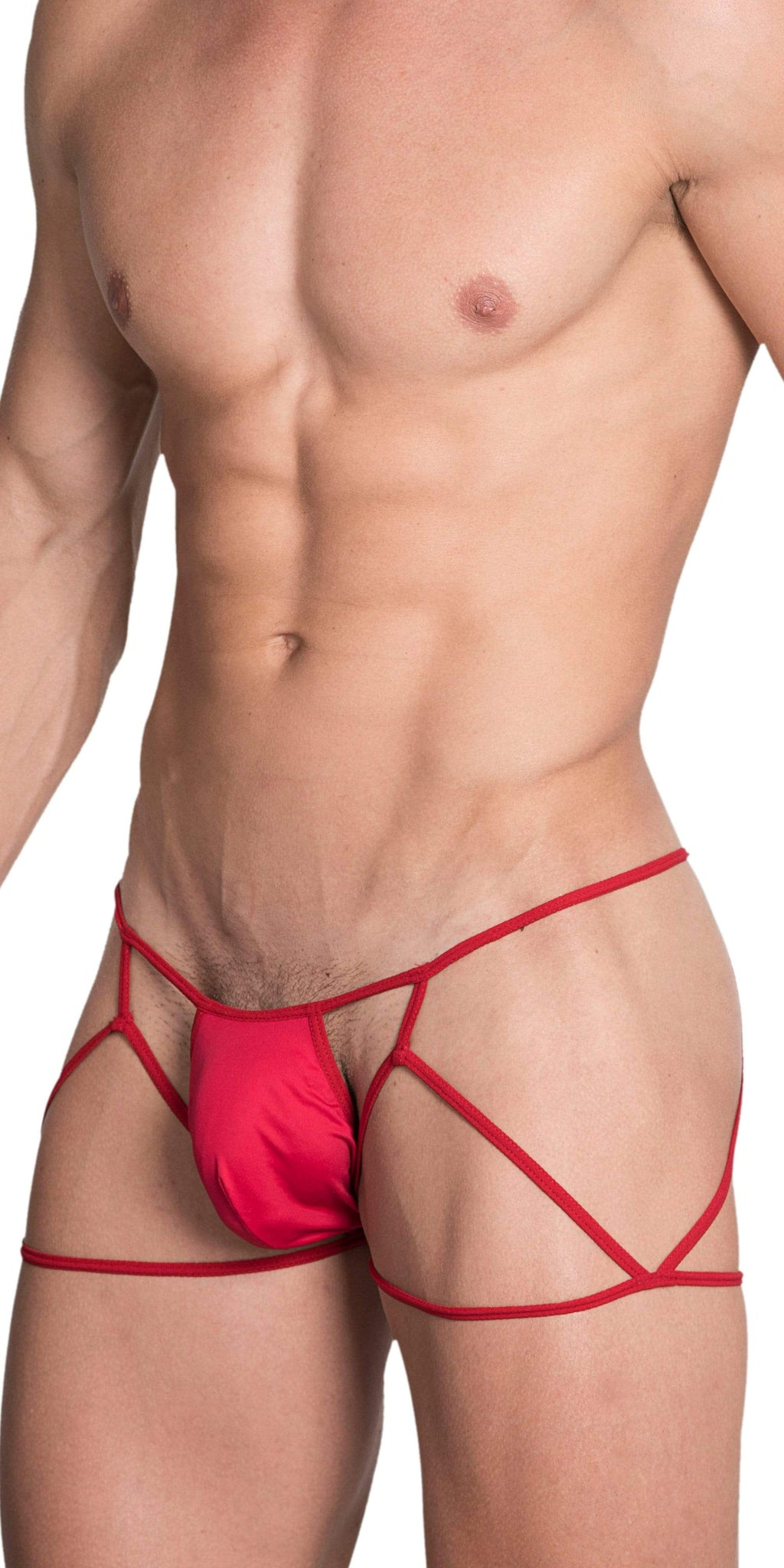 HIDDEN 971 Jockstrap-Thong In Red