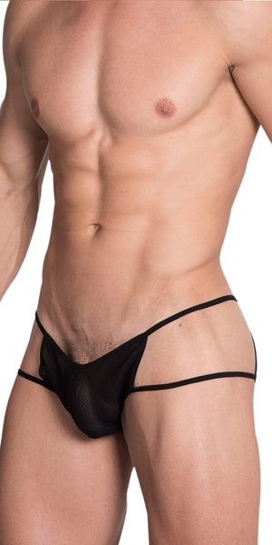 HIDDEN 965 Open Side Mesh Briefs In Black