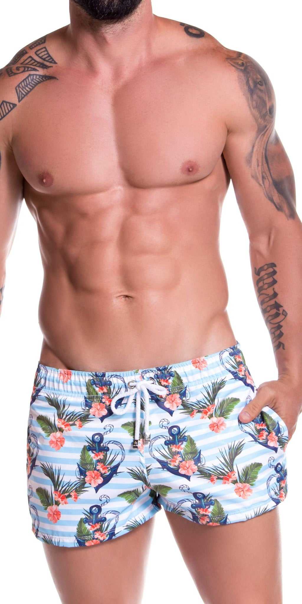 JOR Aqua Mini Short Swim Trunk In Printed