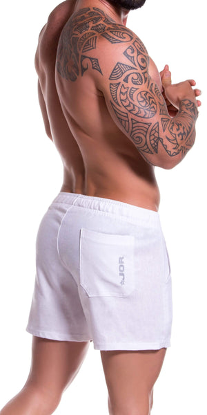 Jor 0813 Copacabana Mini Shorts White