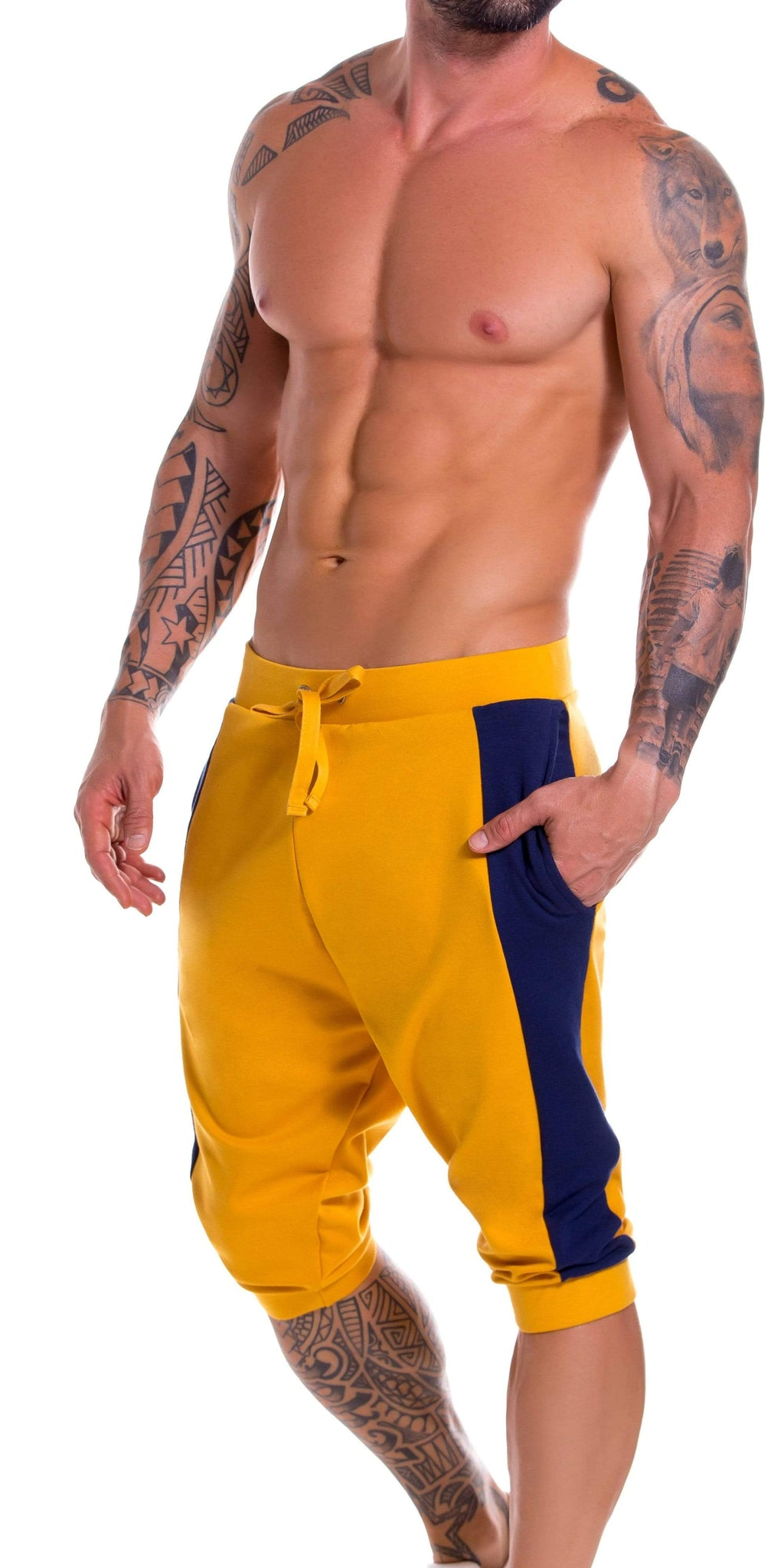 JOR Milan Athletic Cropped Pant In Mustard