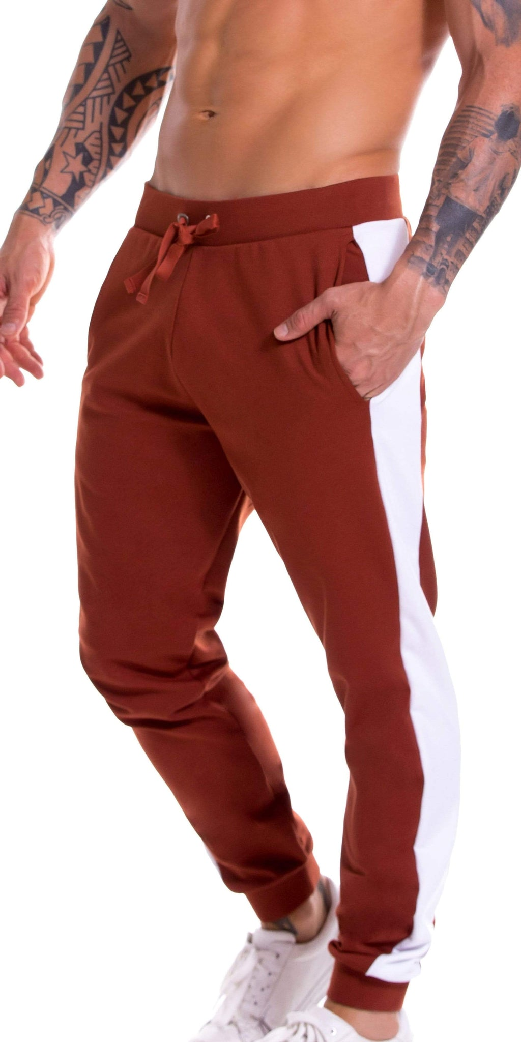 JOR Milan Athletic Pant In Terracotta