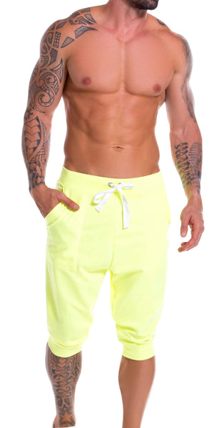 JOR Neon Athletic Cropped Pant In Yellow