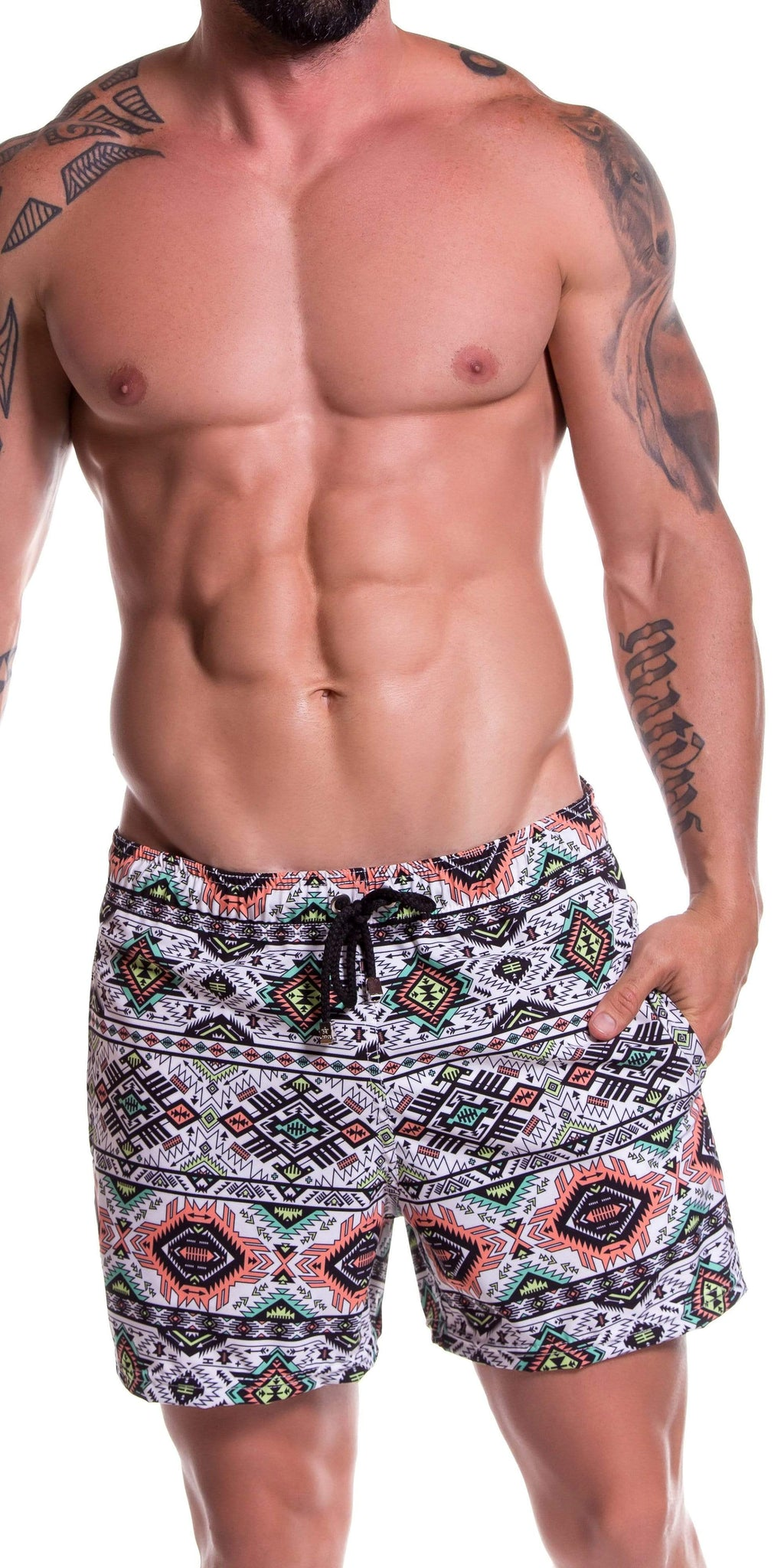 JOR Tribal Short Swim Trunk In Printed