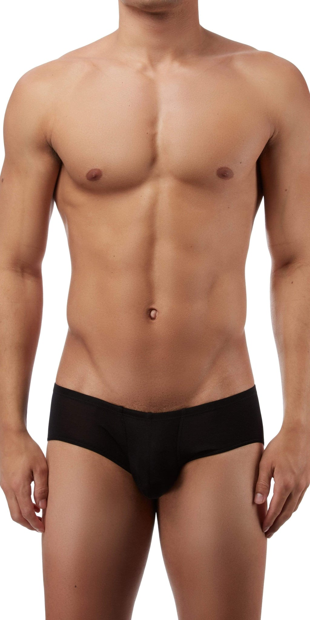 Magic Silk Silk Knit Mini Pouch Short Briefs In Black