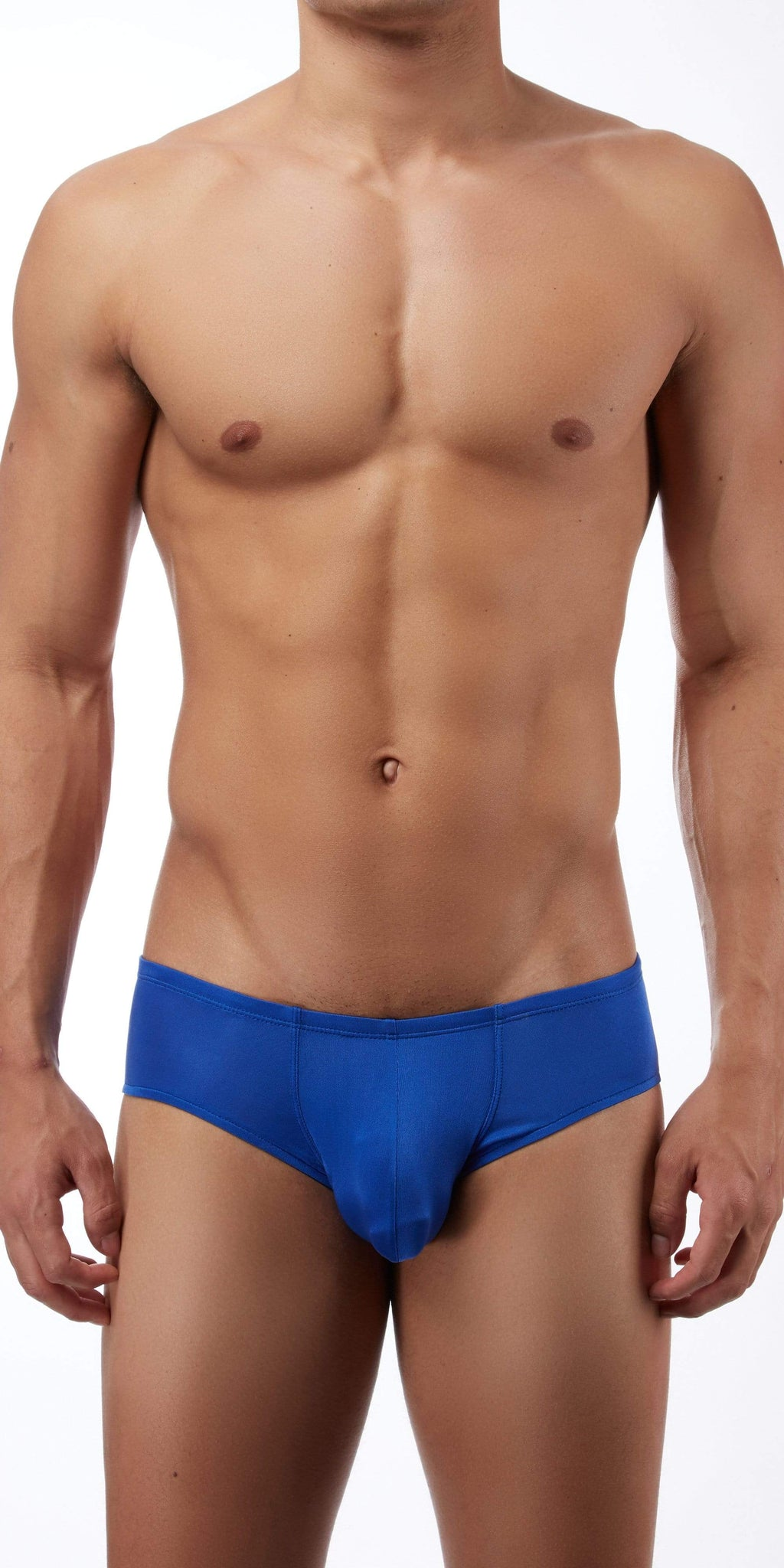 Magic Silk Silk Knit Mini Pouch Short Briefs In Cobalt