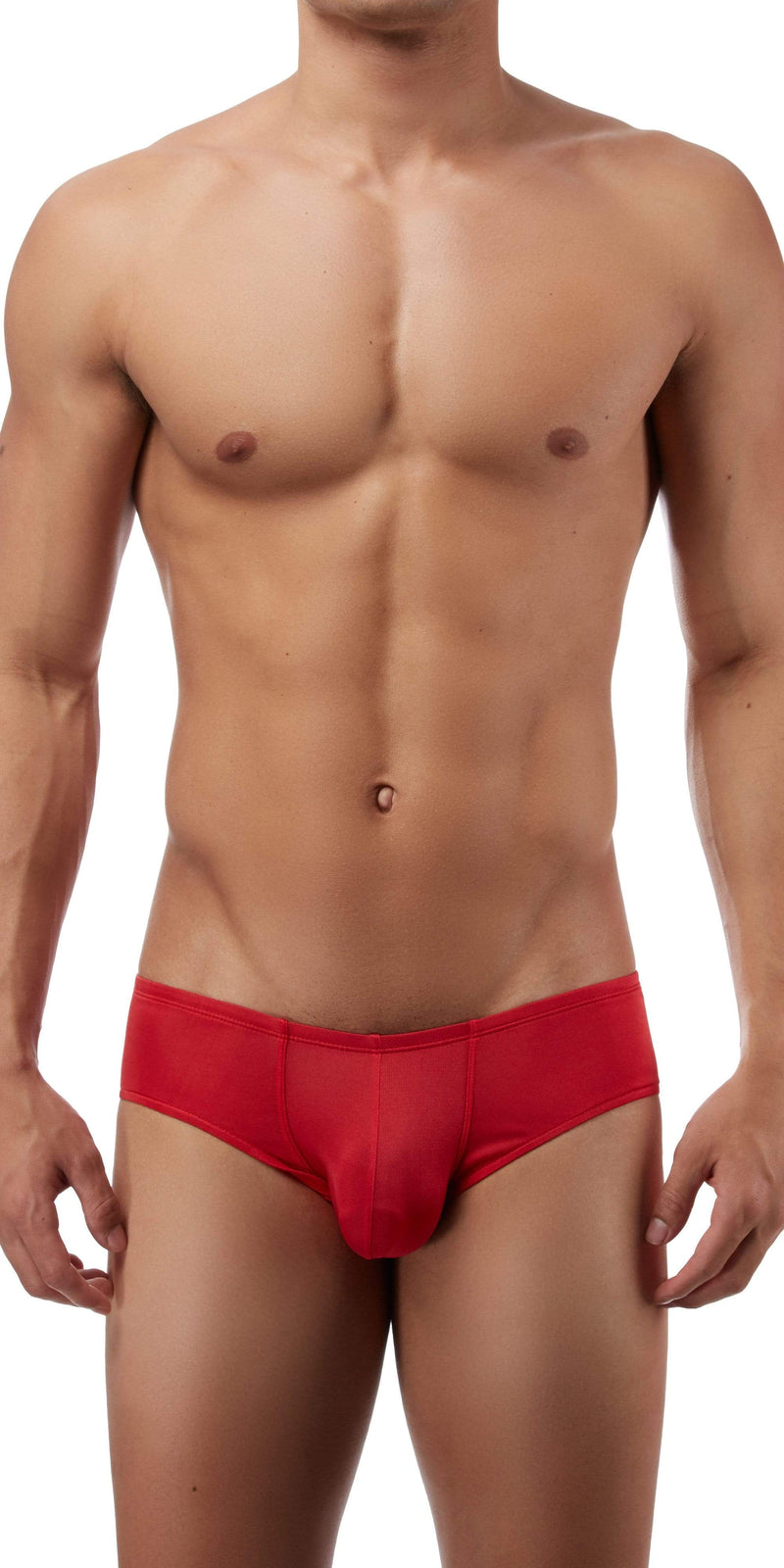 Magic Silk Silk Knit Mini Pouch Short Briefs In Red