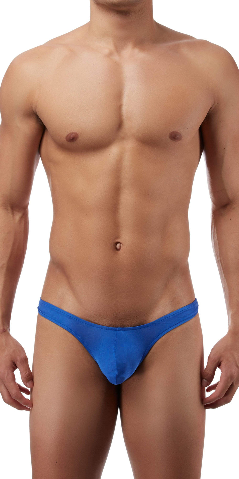 Magic Silk Silk Knit Mini Pouch Thong In Cobalt
