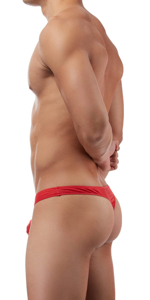 Magic Silk Silk Knit Mini Pouch Thong In Red