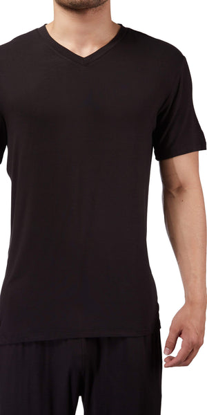 Male Power Bamboo T-Shirt In Black